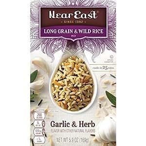 Amazon.com: Near East Long Grain & Wild Rice Mix, Garlic