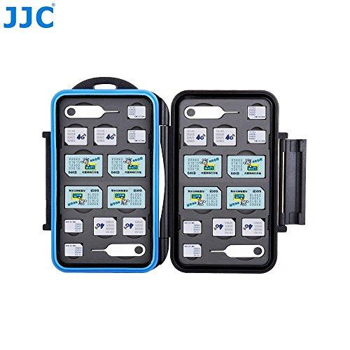 JJC MC-M24 Professional Water-Resistant Mobilephone Cellphone SIM Card Case Protector for 8 SIM + 8 Micro SIM + 8 Nano SIM Cards Storage by JJC (Image #1)