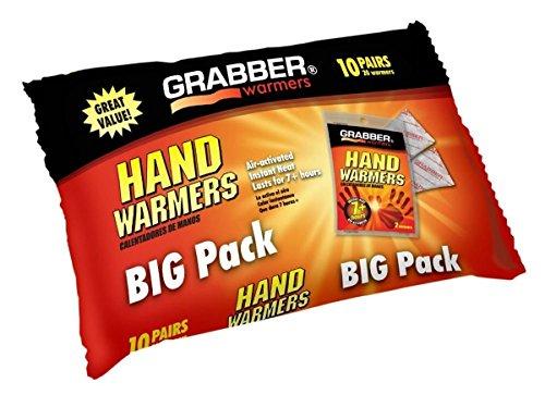 Grabber Hand Warmers, 10 Pairs