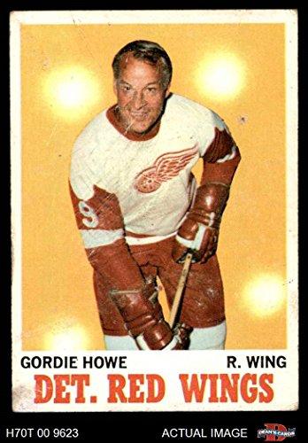 1970 Topps # 29 Gordie Howe Detroit Red Wings (Hockey Card) Dean's Cards 2 - GOOD Red ()