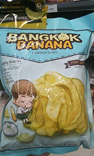 Natural Banana Chips,Sour Cream &Onion Flavour, 30 g. (pack of 2)