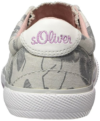 s.Oliver 44107, Zapatillas Sin Cordones Para Niñas Gris (Grey Flower)