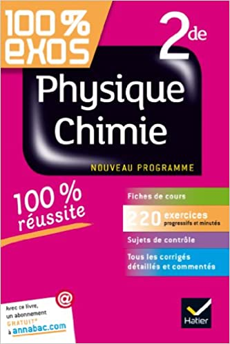 Exo chimie g Seconde 2nde Chimie