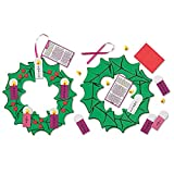 Pack of 24 Nativity of Christ Hanging Decoration Foam Ribbon Advent Wreath Arts & Craft Kit
