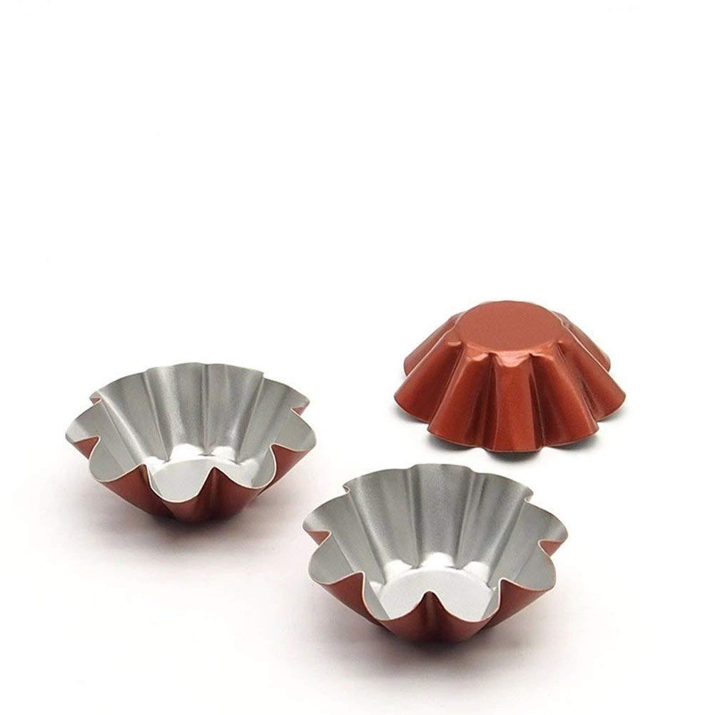 Kuke Mini Tart Pan Set Non-stick Baking Bake Muffin Cupcake Tin Mold Round Egg Tart Tins Mini Pie Tin Tartlet Pan size 100 Pack by Kuke (Image #6)