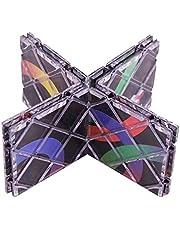 PHLPS 3D-puzzels, magische kubus, vouwbare puzzelblokjes met 8 panelen 3 ringen Twisty Fidget Cube speelgoed speelgoed voor kinderen tieners volwassenen