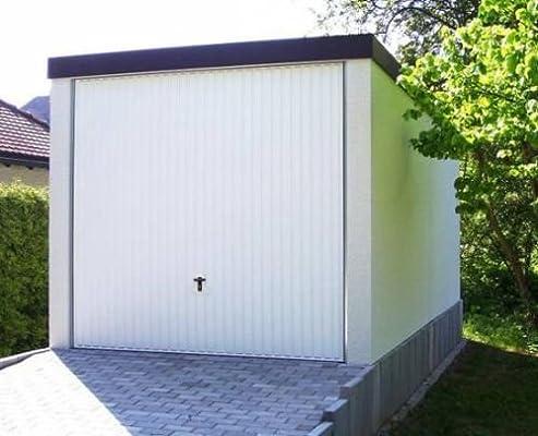 Garaje para el coche prefabricado de máxima calidad 2, 58 m X 5, 85 m x 2, 35 m pared lisa enlucida: Amazon.es: Jardín