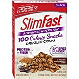SlimFast Advanced Nutrition 100 Calorie Snacks, Drizzled Crisps, S'mores, 5 Count