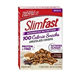 SlimFast Advanced Nutrition 100 Calorie Snacks, Drizzled Crisps, S'mores, 5 Count Review