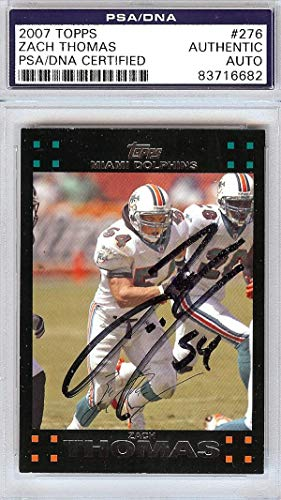 Used, Zach Thomas Autographed 2007 Topps Card #276 Miami for sale  Delivered anywhere in USA