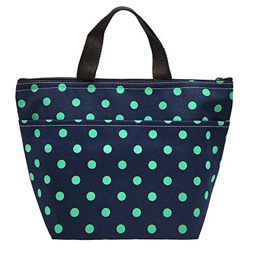 Lunch Insulated Bag Cooler Blue Large Tote Handbag Travel