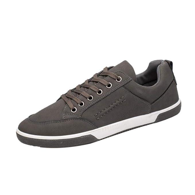 WWricotta LuckyGirls Zapatillas de Correr Hombre Estilo Británico Casual Cómodas Calzado Deportivo Zapatos Planos Informales Bambas de Running Casual con ...