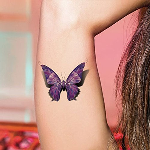 TAFLY 5Sheets Sexy Colorful Butterfly Waterproof Temporary Tattoo Sticker Water Transfer ()
