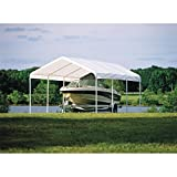 ShelterLogic 12' x 20' SuperMax Heavy Duty Steel Frame Quick and Easy Set-Up Canopy