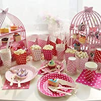 Estilo Antiguo Jaula Cupcake soportes 3 niveles Decorativo Cartón ...