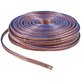 Car Home Audio Speaker Wire Transparent Clear Cable 12AWG 12/2 Gauge (100 Feet)