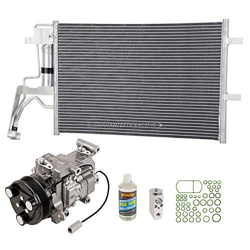 A/C Kit w/AC Compressor Condenser & Drier For Mazda 3 & 5 w/ 5-Groove Pulley - BuyAutoParts 60-80540R6 New ()