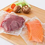 WISH Vacuum Sealer Bags 100 Pcs Quart Size 8 Inch X 12 Inch Heavy Duty Embossed Food Storage Saver Bags Compatible with FoodSaver Sous Vide Cooking