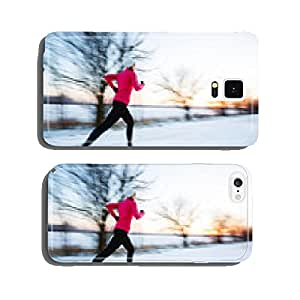 Young woman running on a cold winter day cell phone cover case iPhone6