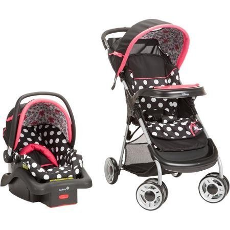 Disney Baby Lift and Stroll Plus Travel System, Minnie Mouse Coral Flowers