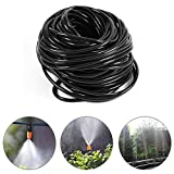 Drip Irrigation,20Meters 3/5mm Garden Distribution Tubing Watering Drip Pipe Micro Emitter Tube Hose Drip Watering Sprinkling Home