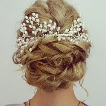 Musuntas Luxury Vintage Bride Hair Accessories 100 Handmade Pearl