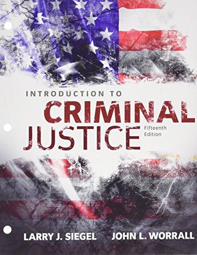 Bundle: Introduction To Criminal Justice, Loose-Leaf Version, 15th + MindTap Criminal Justice, 1 Term (6 Months) Printed Access Card
