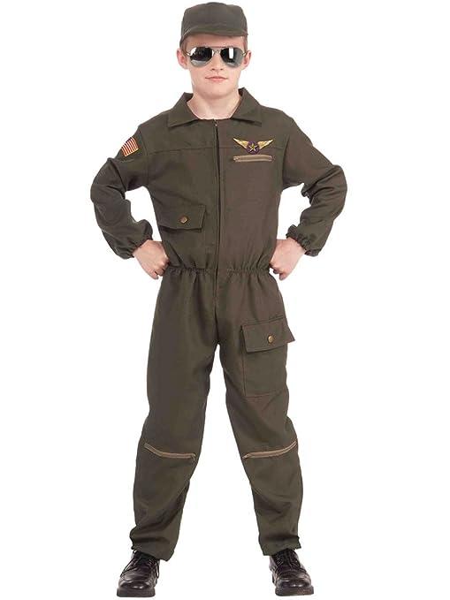 Fighter Jet Pilot Costume for Kids  sc 1 st  Amazon.com & Amazon.com: Fighter Jet Pilot Costume for Kids: Toys u0026 Games