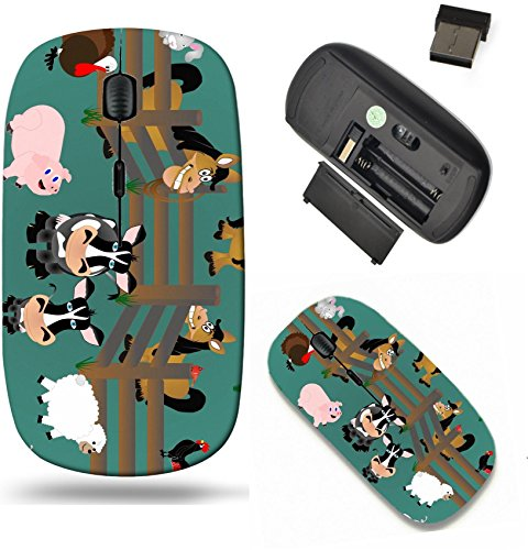 Liili Wireless Mouse Travel 2.4G Wireless Mice with USB Receiver, Click with 1000 DPI for notebook, pc, laptop, computer, mac book IMAGE ID: 8643234 Pigs rooster sheep cows cardinal and - Mouse Wireless Cardinals
