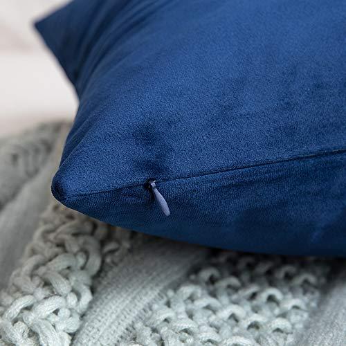 MIULEE Pack of 2 Velvet gentle Soild Throw Pillow Covers