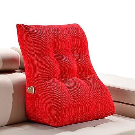 Giow Color sólido Triángulo Cojín para sofá Bolsa de Cama ...