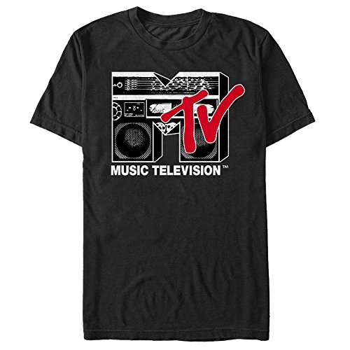 Mtv Boombox - Fifth Sun MTV Men's Boombox Logo Black T-Shirt