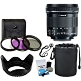 Canon EF-S 10-18mm f/4.5-5.6 IS STM Lens for DSLR Cameras + 3 Piece Filter Kit + Soft Lens Pouch + Lens Hood + 5 Piece Cleaning Kit + Lens Cap Holder + Complete Lens Accessory Bundle