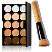 Sungpunet Correcteur, 15 couleurs, maquillage, palette anticernes avec pinceau de maquillage beau Outils