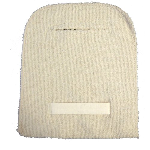 Global Glove T100BPE Terrycloth Heavy Weight Bakers Pad with Elastic Strap (Pack of 12)