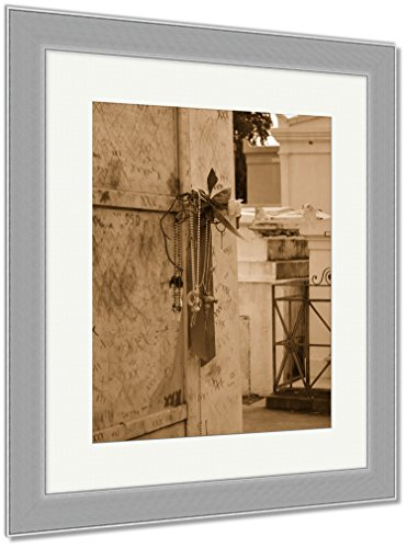 Ashley Framed Prints St Louis Catholic Cemetery New Orleans Louisiana USA, Wall Art Home Decoration, Sepia, 35x30 (frame size), Silver Frame, AG6544567 by Ashley Framed Prints