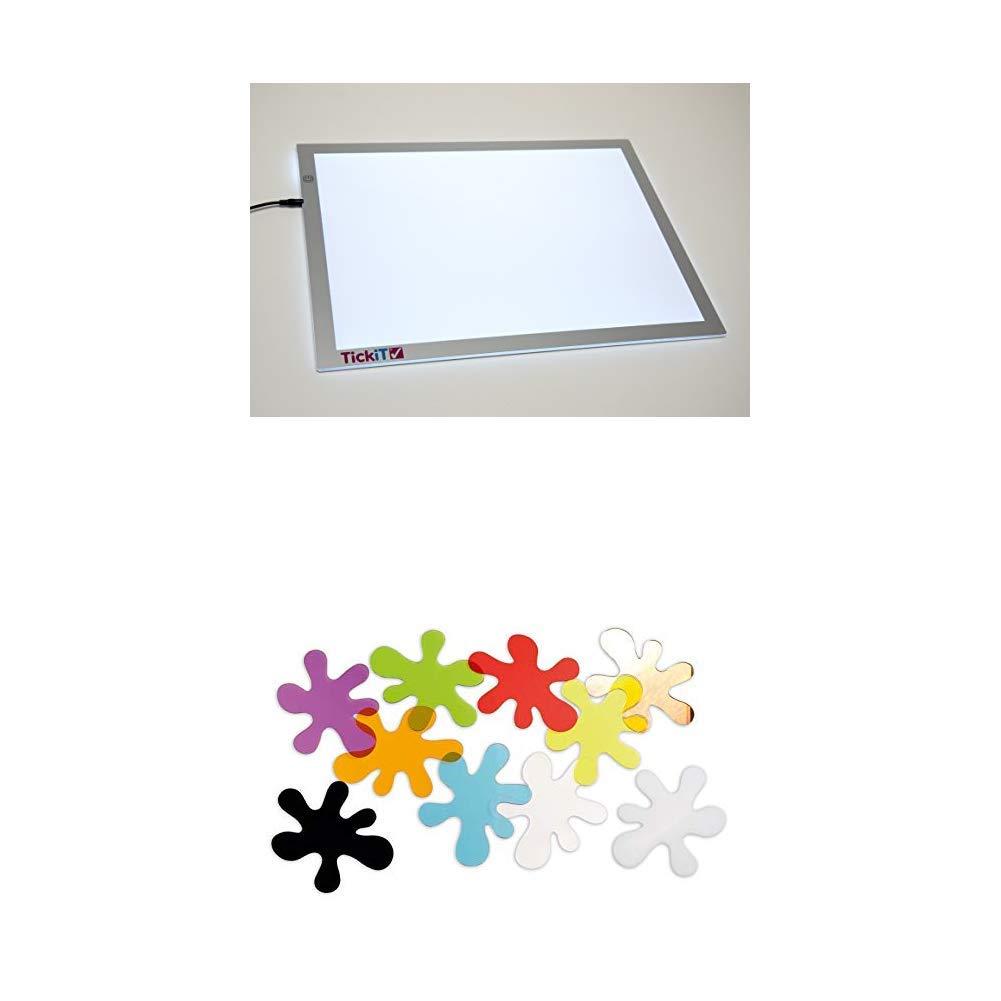 TickiT 73048 Panel de luz de tamaño A2 + TickiT 72397 Conjunto de ...