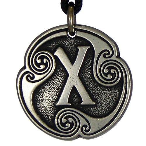Pewter Geofu Norse Rune of Love - Love Talisman Pendant