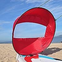 SHUOGOU Downwind Paddle, 42 pollici Kayak Vela Wind Sail Paddle Canoa Accessori - Facile Installazione e Distribuzione Rapida, Compatta e Portatile