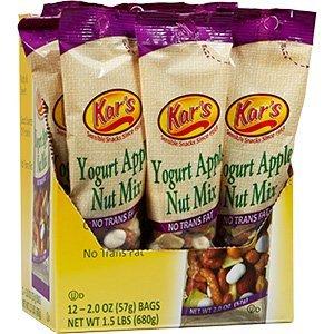 Kar's Yogurt Apple Nut Mix with Greek Yogurt Raisins, 2 ounce (Pack of 12) by Kars