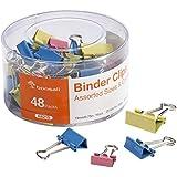 Bonsaii Binder Clip with Assorted Colors, Assorted Sizes, 48 pcs Per Tub (A8215)