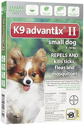 K9 Advantix II Flea and Tick Treatment - Small Dog - 6 ct