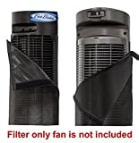 PollenTec Tower Fan Filter fits perfectly on the Honey-Wll Models HYF 260B, 290B keeps your fan clean and lasting longer effective at Filtering Airborne Pollen Dust Mold Spores Pet Dander Reusable