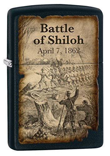 Zippo Lighter: Civil War, Battle of Shiloh - Black Matte 77274 by Zippo