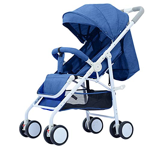 WYANAN Baby Stroller Sit Lightweight Portable Travelling Pram High Landscape Children Pushchair 4 Seasons Newborn Travelling Pram,Blue