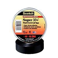 Scotch(R) Super 33(TM) Vinyl Electrical Tape, 3/4 in x 52 ft, Black