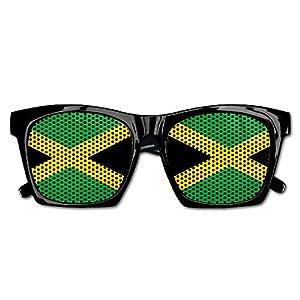 Ysm&Gaz Jamaica Flag Unisex Polarized Party Sunglasses Resin Frame Eyewear Favor Mesh Lens Sun Glasses