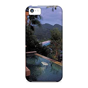 Premium Wmp23047YsJj Cases With Scratch-resistant/ Jacuzzi Beach Villa Cases Covers For Iphone 5c