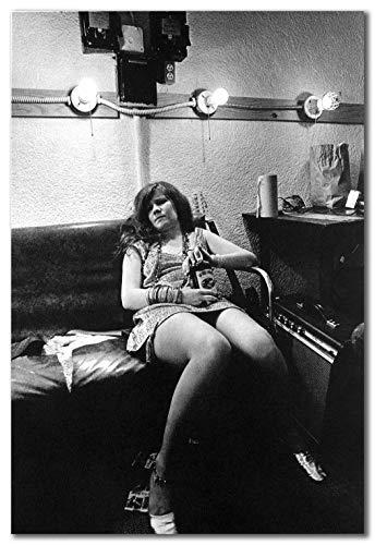 wallsthatspeak Janis Joplin Reclining in Classic Printed on 8x12 Poster Wall Art by Movie Star News