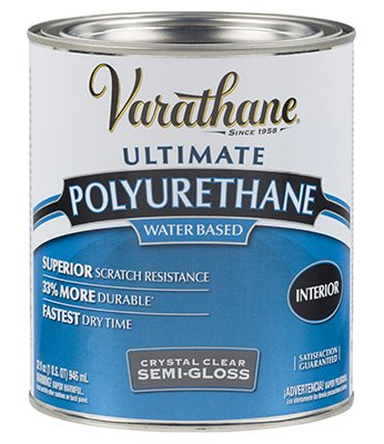 Varathane 200141H 1 Quart Semi-Gloss Water-Based Diamond Polyurethane Finish®